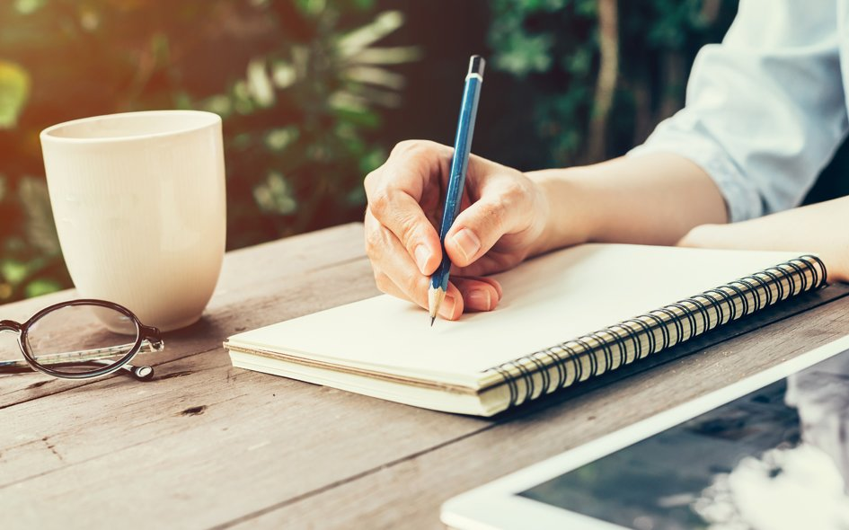 notepad writing