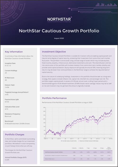 NorthStar Cautious Growth Portfolio Factsheet August Thumbnail