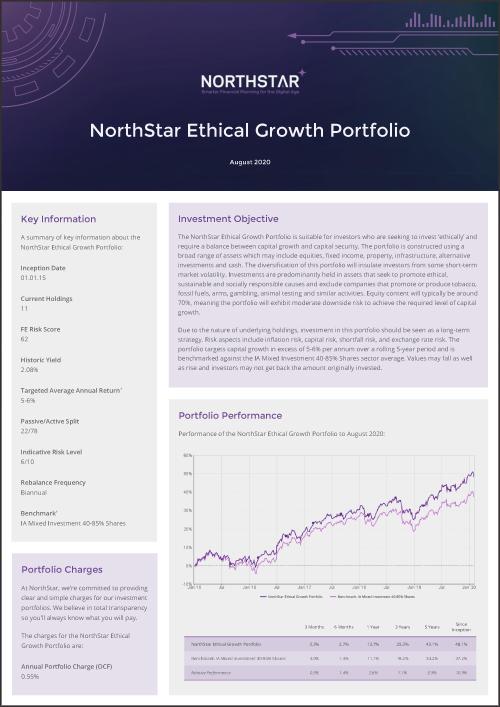 NorthStar Ethical Growth Portfolio Factsheet August Thumbnail