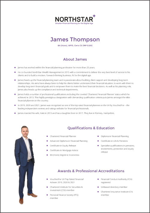 Financial Planner Profile James Thompson